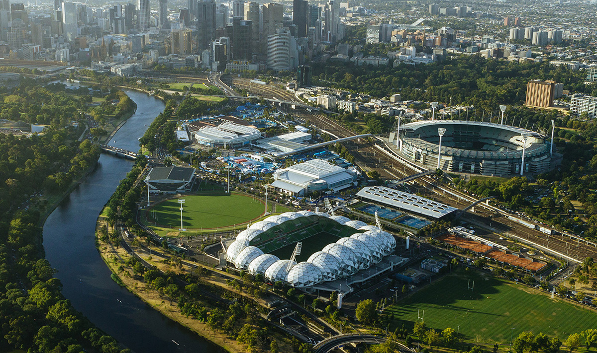 Melbourne city sights by helicopter
