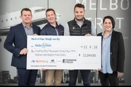 Make A Wish Cheque Presentation At Essendon Fields Airport