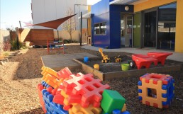 Toys outside the childcare center